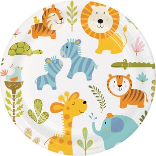 Happy Jungle Paper Plate (Set of 24)