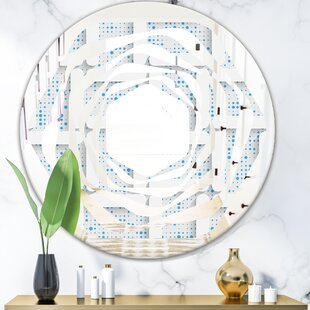 3D Pattern I Whirl Modern Frameless Wall Mirror by East Urban Home