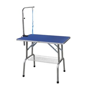Heavy Duty Stainless Steel Pet Grooming Table with Arm