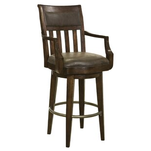 Bradberry Swivel Bar Stool Canora Grey