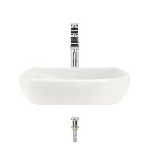 MR Direct Vitreous China Specialty Vessel Bathroom Sink with Faucet