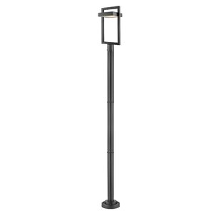 Affordable Fortune Outdoor 1-Light LED 97.23 Post Light By Orren Ellis