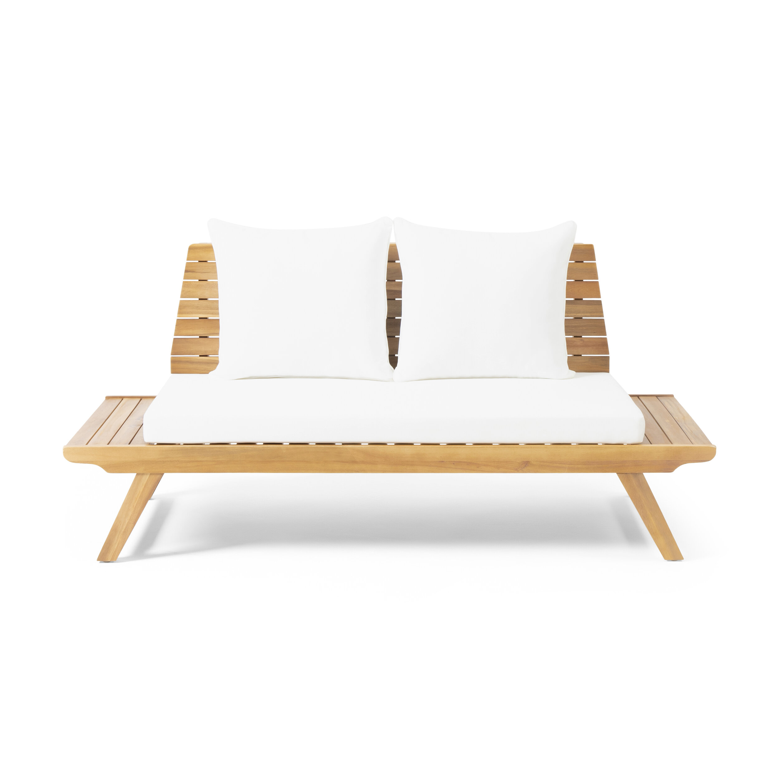 Outstanding Bullock Outdoor Wooden Loveseat With Cushions Alphanode Cool Chair Designs And Ideas Alphanodeonline