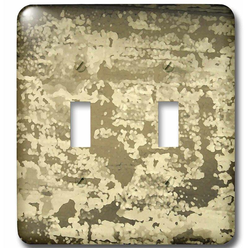 3drose Grunge Metallic 2 Gang Toggle Light Switch Wall Plate Wayfair