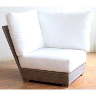 Constance Teak Outdoor Sectional Corner Chair with Sunbrella Cushion
