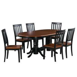 Inwood 7 Piece Extendable Solid Wood Dining Set DarHome Co