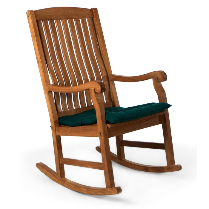 Tremendous Espinosa Teak Rocking Chair With Cushions Caraccident5 Cool Chair Designs And Ideas Caraccident5Info