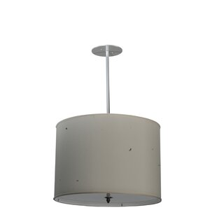 Meyda Tiffany Cilindro Textrene 4-Light Pendant