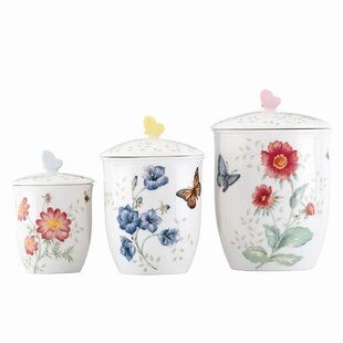 Butterfly Meadow 3 Piece Storage Jar Set