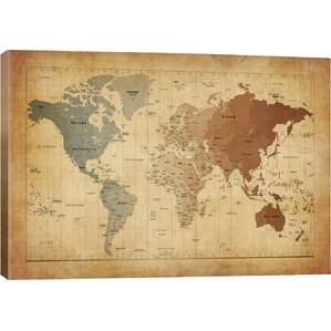 Map Of The World Iii Graphic Art Print