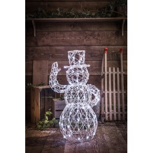 Wicker Effect Snowman Lighted Display By The Seasonal Aisle