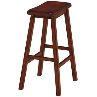 Fredia Backless Saddle 29 Barstool Millwood Pines