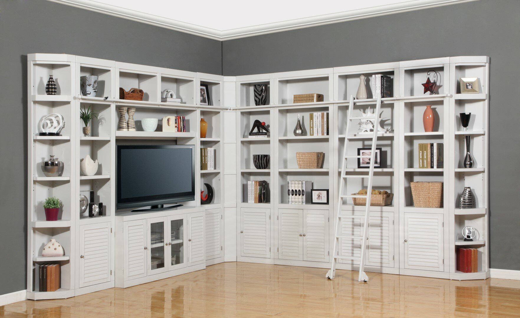 Veda Library Corner Unit Bookcase By Beachcrest Home