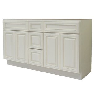 Cabinet 60 Double Bathroom Vanity Base by NGY Stone & Cabinet
