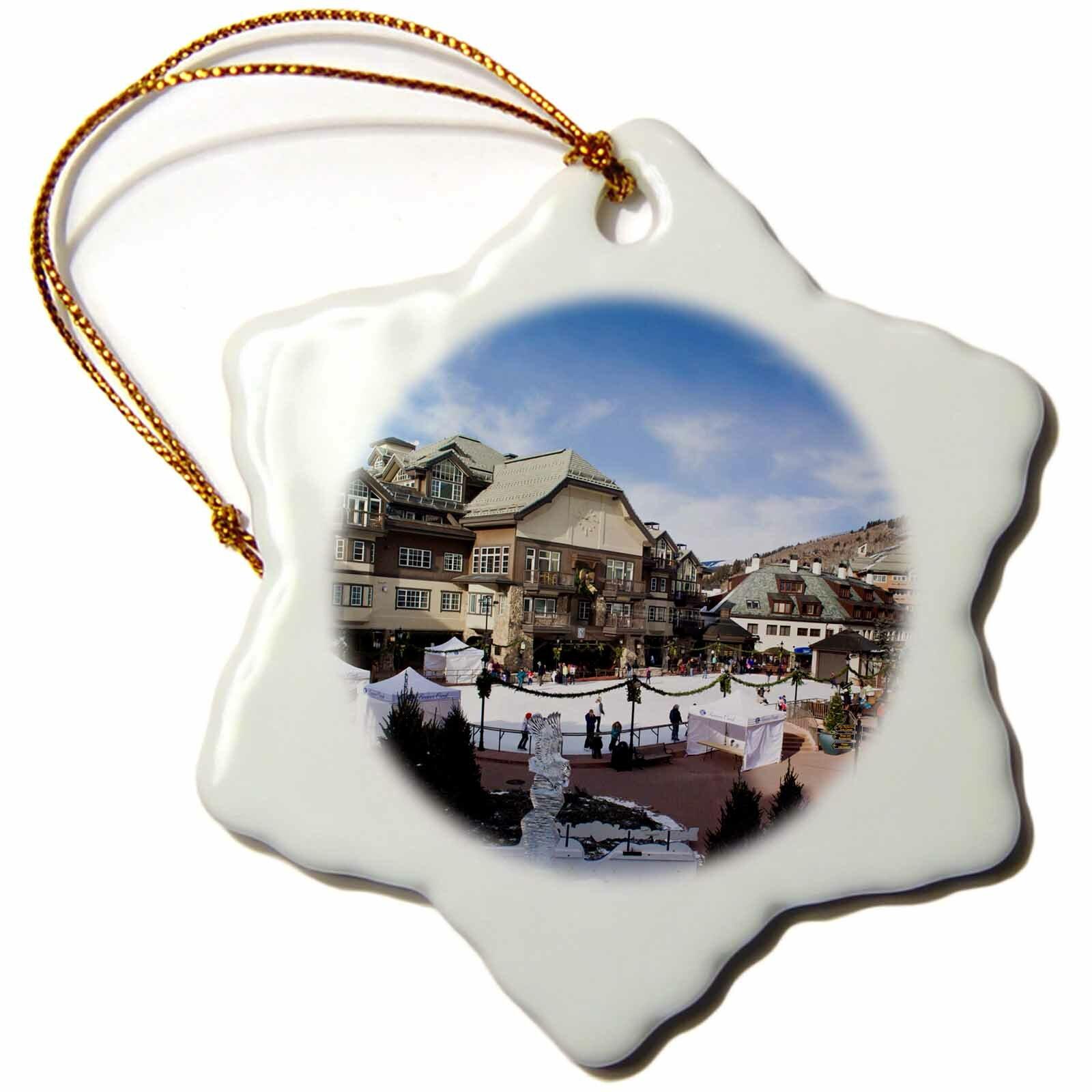 The Holiday Aisle Usa Colorado Beaver Creek Ski Resort Ice Rink Snowflake Holiday Shaped Ornament Wayfair