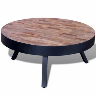Edgebrooke Reclaimed Teak Round Coffee Table By Mercury Row