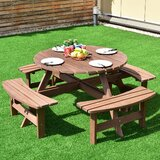 Currier Folding Solid Wood Picnic Table