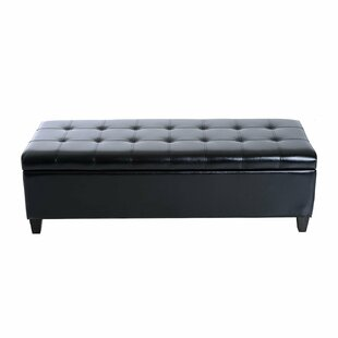 Higbee Faux Leather Storage Bedroom Bench