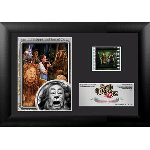 Wizard of Oz 75th Anniversary (Cowardly Lion) Mini FilmCell Presentation Framed Memorabilia