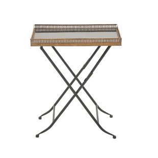 Metal and Mable Tray Table