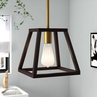 Brayden Studio Sheredan 1-Light Square/Rectangle Pendant