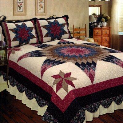 Prairie Star Quilt Elegant Decor Size: Super King