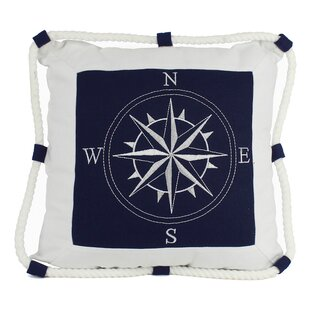 Compass With Nautical Rope Pillow Cover