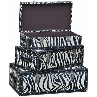 Claremont 3 Piece Trunk Set By World Menagerie