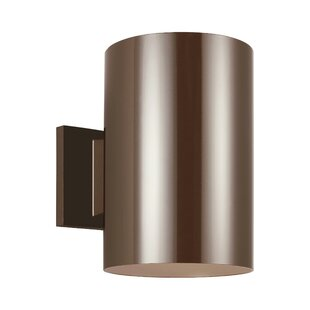 Orren Ellis Creissant Modern 1-Light Metal Shade Outdoor Sconce