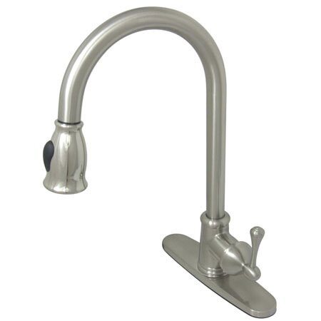GS7888BL Vintage Pull Down Single Handle Kitchen Faucet  sc 1 st  Wayfair & Kingston Brass Vintage Pull Down Single Handle Kitchen Faucet | Wayfair