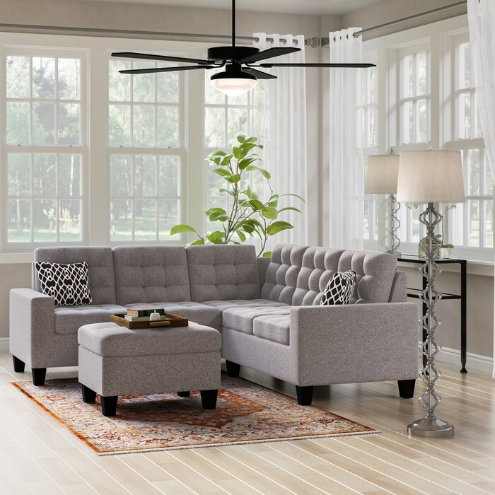 Astonishing Pawnee Symmetrical Sectional With Ottoman Onthecornerstone Fun Painted Chair Ideas Images Onthecornerstoneorg