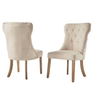 Tamarack Linen Tufted Upholstery Dining Chair (Set Of 2) by Three Posts Today Sale Only