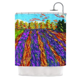 East Urban Home Flowers in the Field by Jeff Ferst Shower Curtain