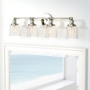 Beachcrest Home Woodburn 4-Light Vanity Light