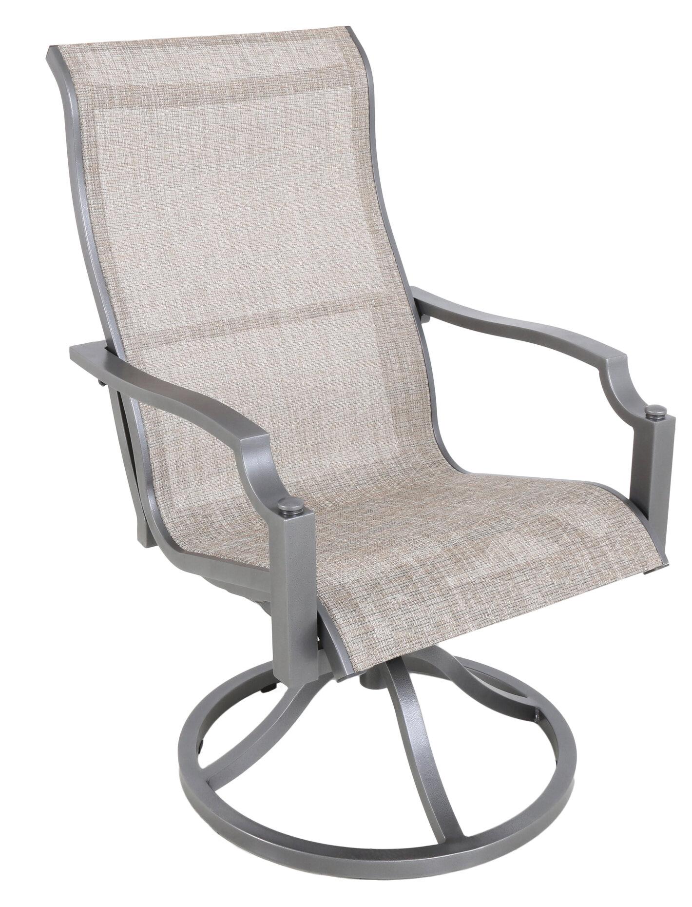 Sling Swivel Patio Dining Chair
