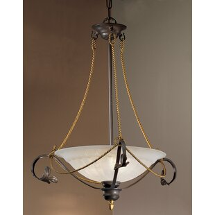 Classic Lighting Verona 3-Light Semi-Flush Mount