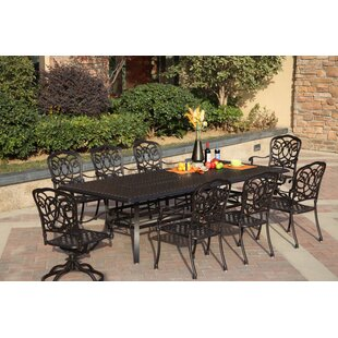Astoria Grand Dolby Traditional 9 Piece Dining Set with Cushions