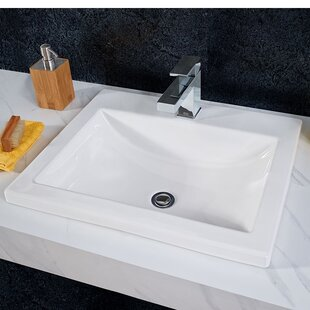 Shopping for Studio Vitreous China Rectangular Drop-In Bathroom Sink with Overflow By American Standard