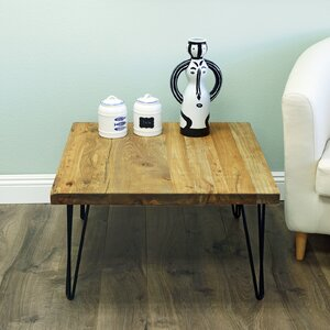 Nadin Rustic Square Old Elm Coffee Table