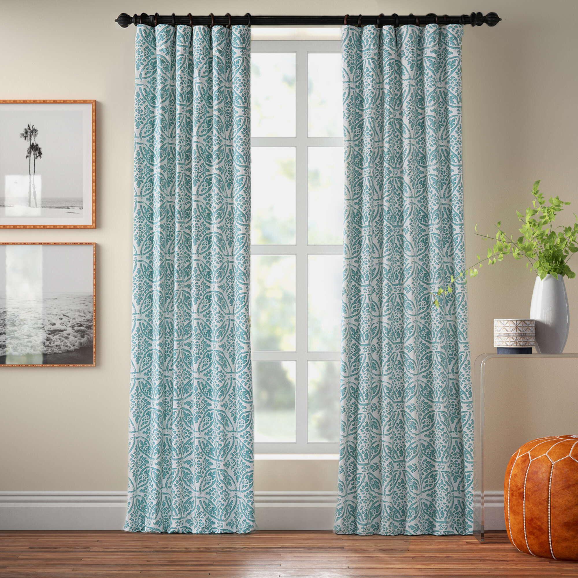 Brianne 100 Cotton Geometric Room Darkening Rod Pocket Single Curtain Panel Reviews Joss Main
