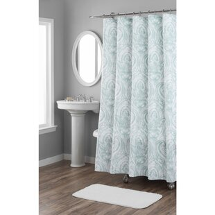 Compare prices Melina Cotton Shower Curtain ByNicole Miller