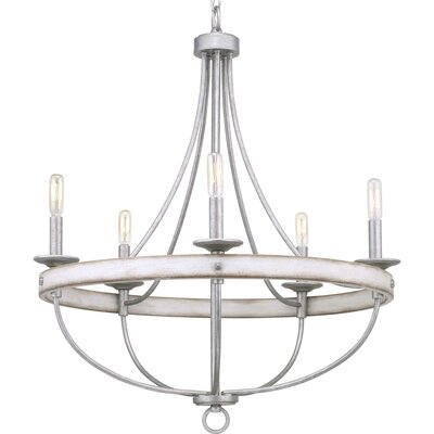 17 Stories Emaria 5 Light Candle Style Chandelier Finish Galvanized
