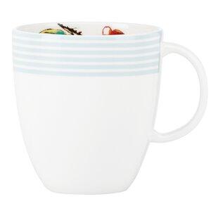 Simply Fine Chirp Stripe 8 Oz Teacup