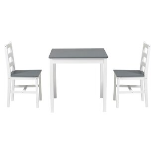 Tabinowski 3 Piece Solid Wood Dining Set by Winston Porter
