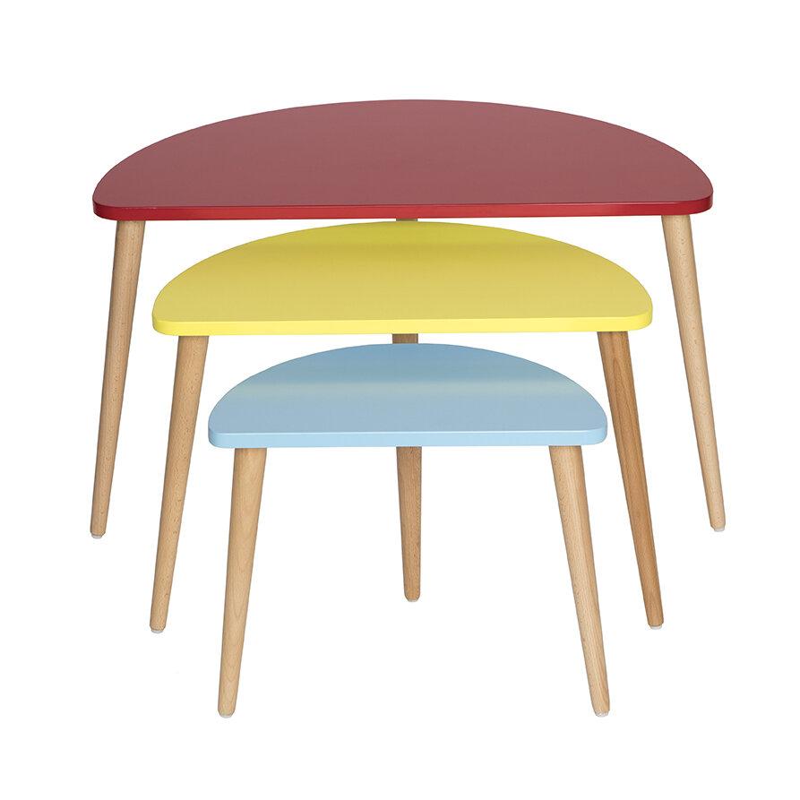 Perfect Madison Home USA Mid Century Modern 3 Piece Nesting Tables | Wayfair