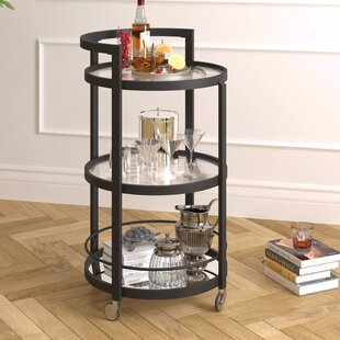 Willem Mirrored Bar Cart by Ebern Designs