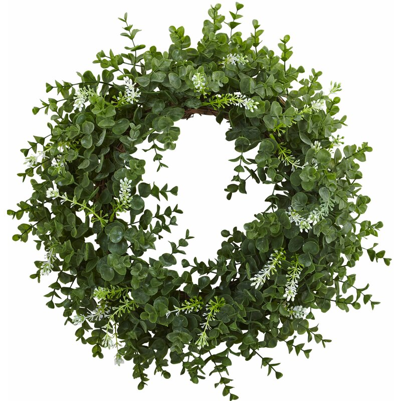 Nearly Natural 18 Quot Eucalyptus Double Ring Wreath Amp Reviews