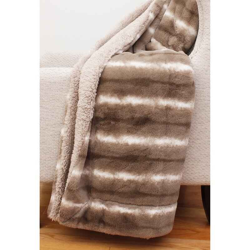 Union Rustic Cabell Faux Fur Throw Reviews Wayfair