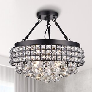 Mossley 4-Light Semi Flush Mount by Rosdorf Park