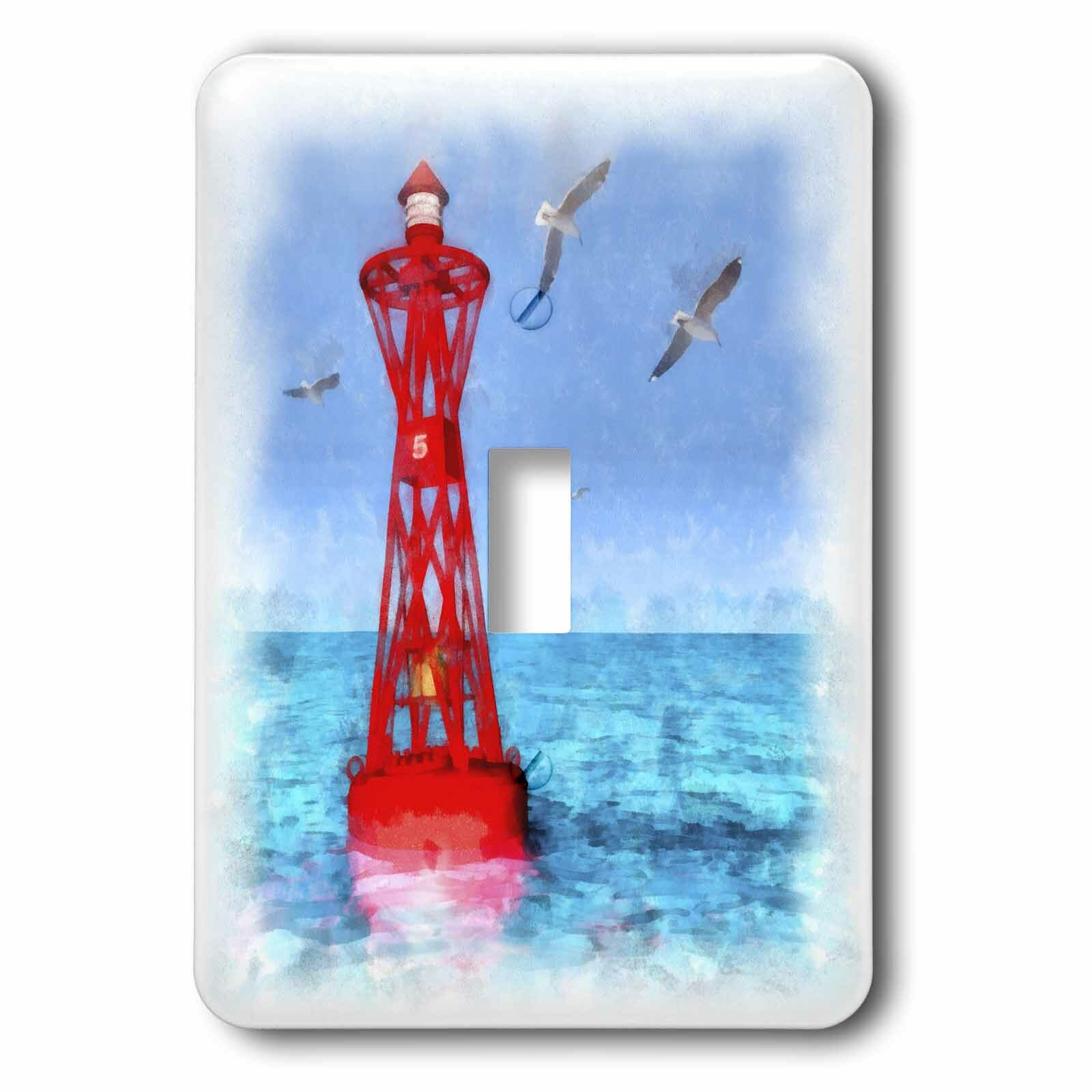 3drose Buoy And Seagulls 1 Gang Toggle Light Switch Wall Plate Wayfair